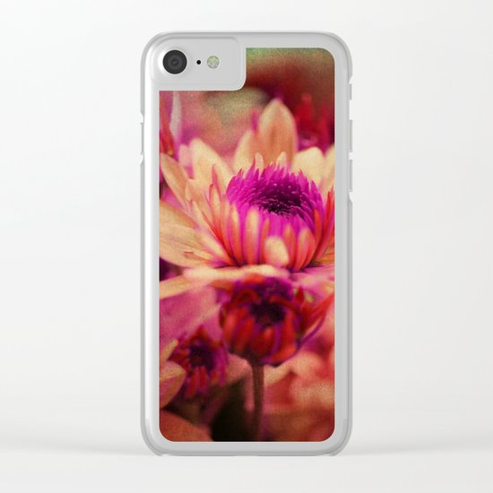 Vintage asters. Clear iPhone Case