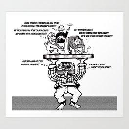 Mr Block Lifts Business Art Print