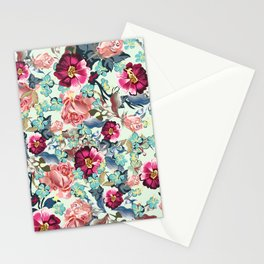 Beautiful victorian rose pattern in vintage style Stationery Cards