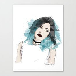 Kylie Jenner Illustration Canvas Print