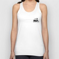 delorean Tank Tops featuring Delorean - Ghost Image 1 by Geoff Ombao Car Art
