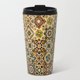 Old tiles (azulejos) from facade of house in Portugal Travel Mug