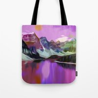river Tote Bags featuring River by Asya Solo