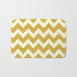 Yellow Mustard Chevron Bath Mat