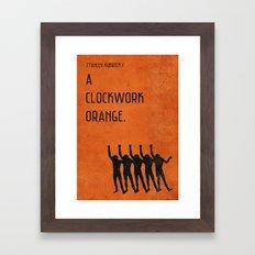 ClockworkOrange Vintage Minimalist Poster Framed Art Print