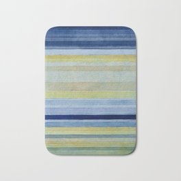 Colorbands Daylight Blue and Yellow Bath Mat