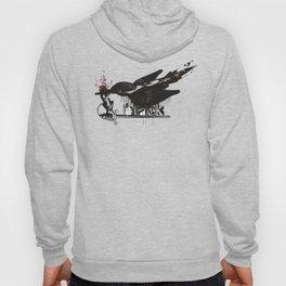 art word black dripping bird knights arm sword Hoody