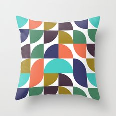 mod geo pattern Throw Pillow