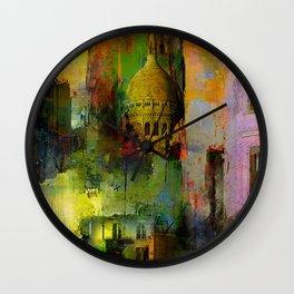 In a street of Paris Wall Clock