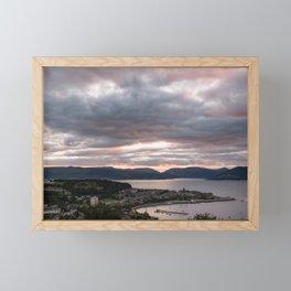 Sunset Gourock in Greenock Scotland Framed Mini Art Print