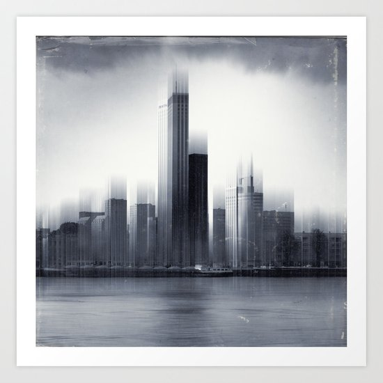 Rotterdam Skyline Abstraction Art Print