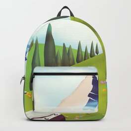 Alpine Meadow landscape Backpack