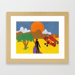 The Possibilities are Endless- Girl & Bi-Plane Framed Art Print
