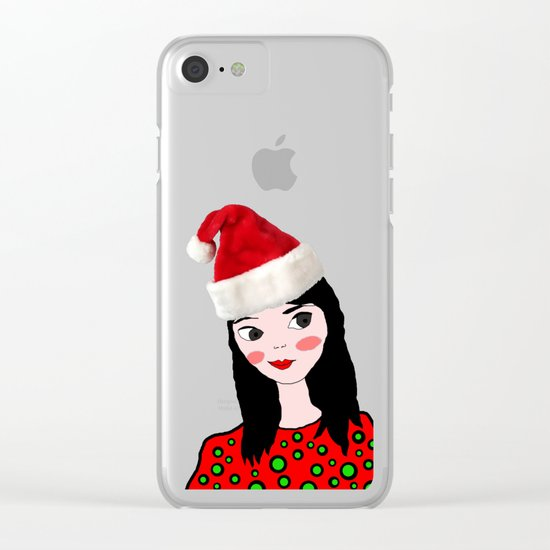 Christmas with you | Kids Painting | Only Love by Elisavet Clear iPhone Case