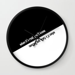 When it's real / fake, you'll know. Wall Clock