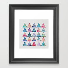 Marble Triangles 2 Framed Art Print