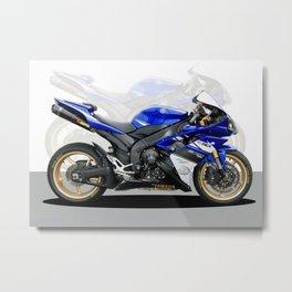 Yamaha R1 blue Metal Print