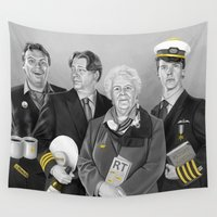 cabin Wall Tapestries featuring Cabin Crew by tillieke