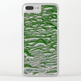 Abstract pattern made from rain droplets. Clear iPhone Case
