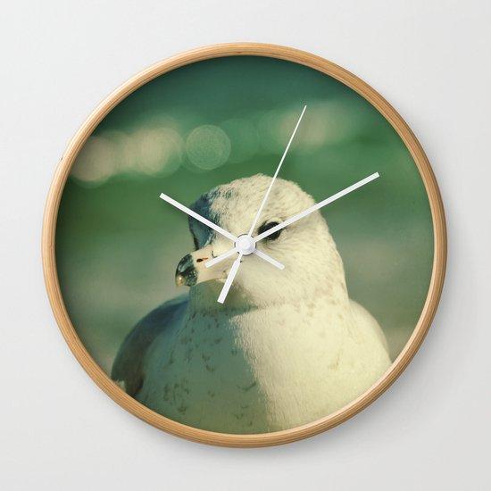 Seagull Close Up Wall Clock