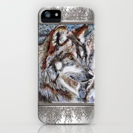 Gray Wolf Watches and Waits iPhone Case