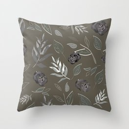 Simple and stylized flowers 17 Throw Pillow