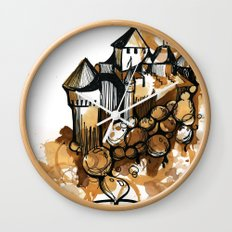 Castle float Wall Clock