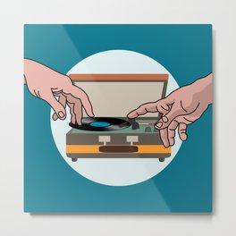 music record Metal Print