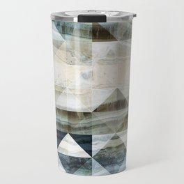 Geo Marble - Natural and Blue #buyart #marble Travel Mug