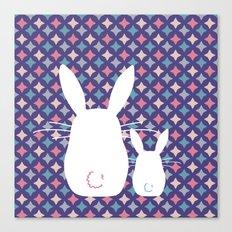 Bunny / Vintage pattern #4 Canvas Print