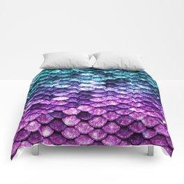 Mermaid Tail Dark Unicorn Comforters