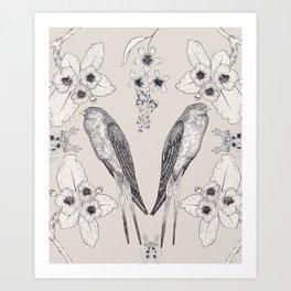 Summer Swallow Art Print