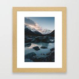 Hooker Valley, Mt Cook Framed Art Print