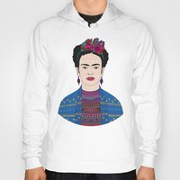 frida kahlo Hoodies featuring Frida Kahlo by Bianca Green