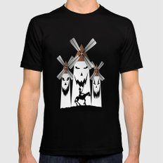 QUIXOTE Mens Fitted Tee LARGE Black