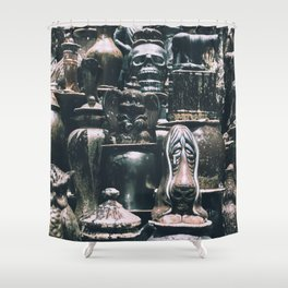 Eclectic Pottery Shower Curtain