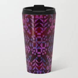 Makai Geometric Purple Travel Mug