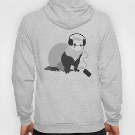 Music Loving Ferret Hoody