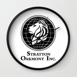 Stratton Oakmont Inc Logo From The Wolf Artwork Of Symbol For Tshirts Prints Posters Bags Men Women Wall Clock