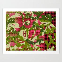 batik screen Art Print