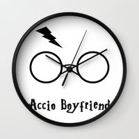 boyfriend Wall Clocks featuring Accio Boyfriend by Vortha
