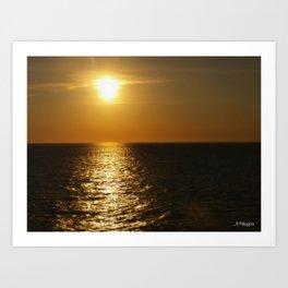 Horizontal Horizon  Art Print