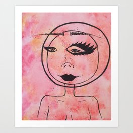 Spacehead Art Print