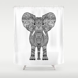 BLACK ELEPHANT Shower Curtain
