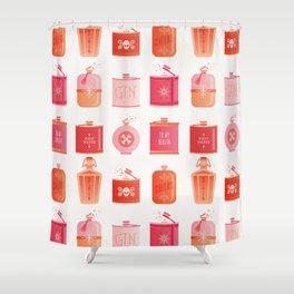 Flask Collection – Pink/Peach Ombré Palette Shower Curtain