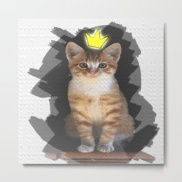 Lord of the Purr Metal Print