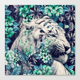 Floral Tiger Canvas Print