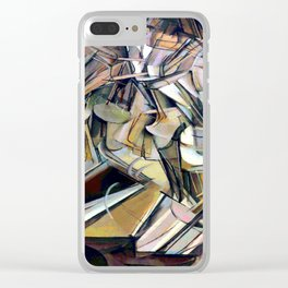 Marcel Duchamp Nude Descending a Staircase Clear iPhone Case