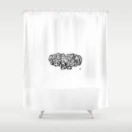 'Brute Wisdom'  by John McLachlan Shower Curtain