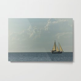 Full Sail on the High Seas Metal Print
